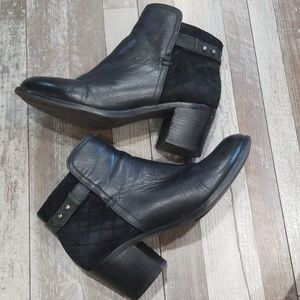 Sperry Ambrose black leather ankle boots size 7.5